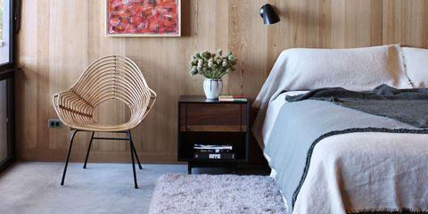 Wood, Room, Interior design, Textile, Floor, Wall, Ceiling, Furniture, Linens, Hardwood,