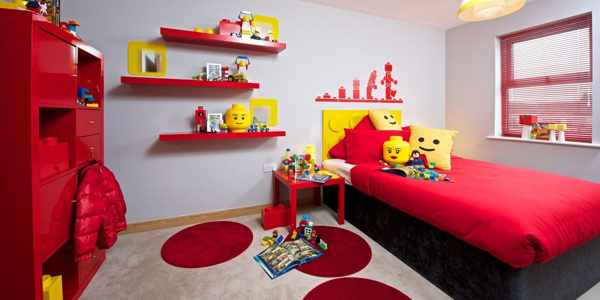 Room 2 Build Bedroom Kids Lego: Weston Homes Lego Room