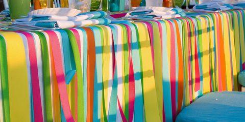 Tablecloth, Textile, Linens, Orange, Decoration, Majorelle blue, Centrepiece, Peach, Flowerpot, Sphere,