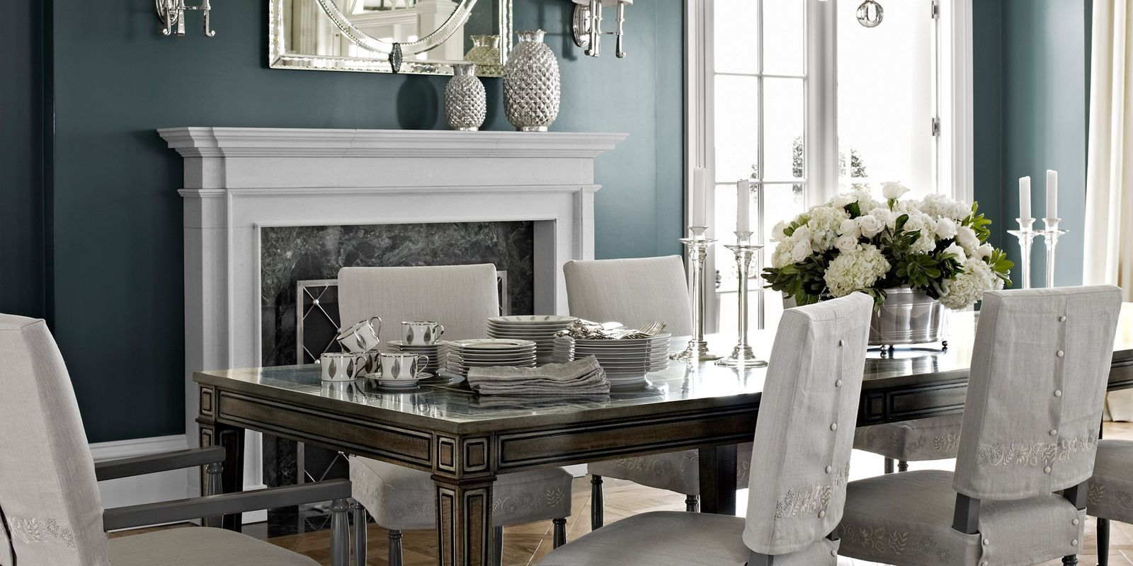 Dark Gray Dining Room Part 75