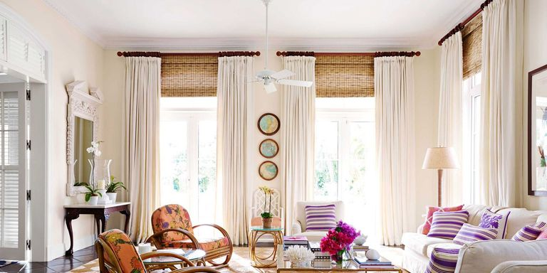 purple striped pillows - Amanda Interior Design