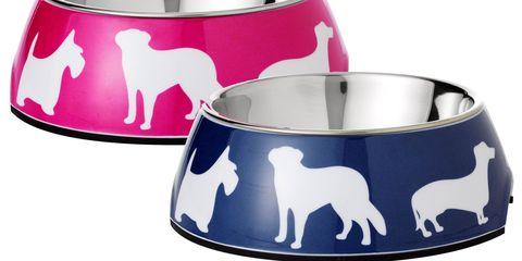 c wonder dog print bowls