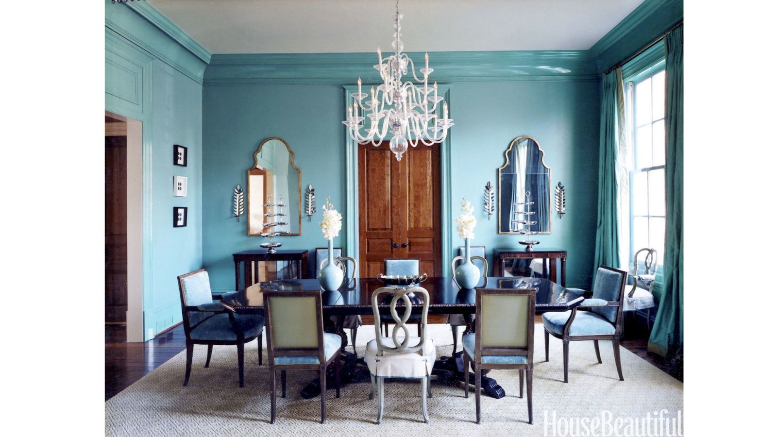 Design Turquoise Dining Room happy paint colors cheery color