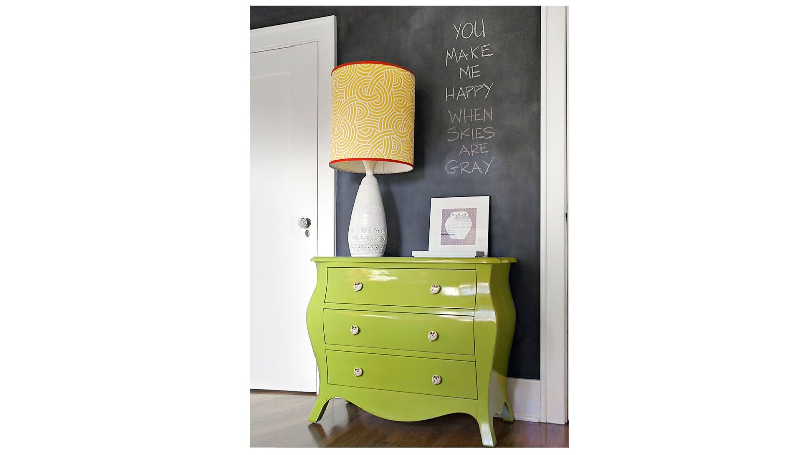 green lacquered chest