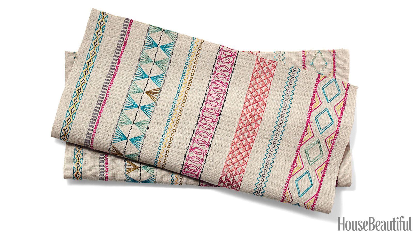 circus stripe fabric