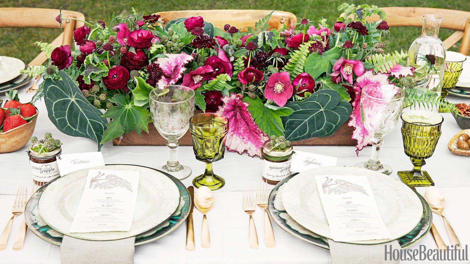 lush floral tablescape