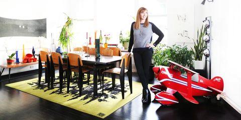 Table, Interior design, Kitchen & dining room table, Houseplant, Interior design, Design, Stool, Coquelicot, Dining room,