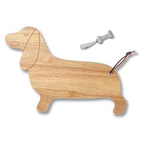 dachsund cheese board and spreader