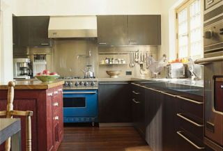 kitchen by paul siskin with black cabinets