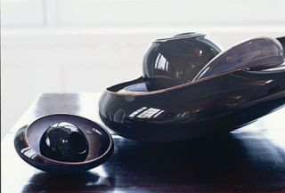 black bowls by dale chihuly