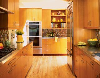 douglas fir cabinets in los angeles kitchen