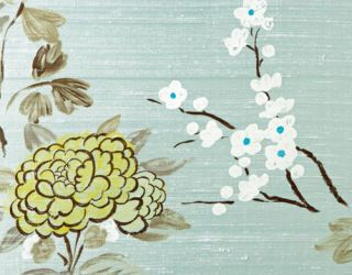 Taisho Blossom in Water Blue