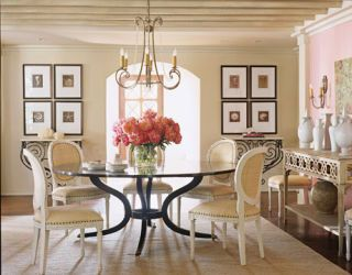 Color is Pretty dining room.
