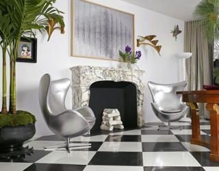 Silver Egg Chairs