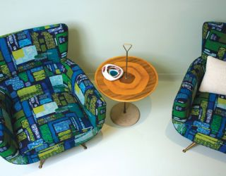 Patterned Chairs and Table