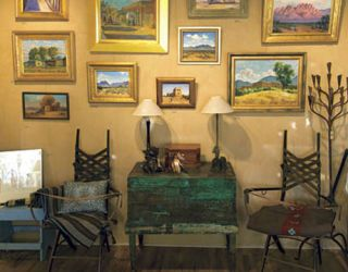paintings and chairs