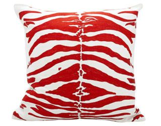 red zebra pattern pillow