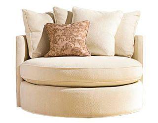 round off white chair