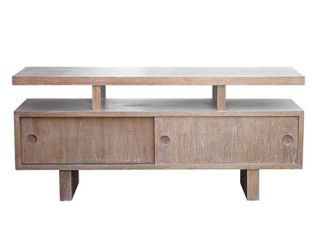 lightened wood console