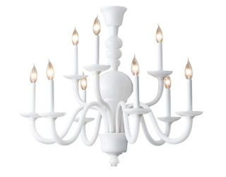 a white chandelier
