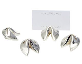 four fortune cookie place card holders
