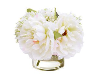 vase of fake flowers