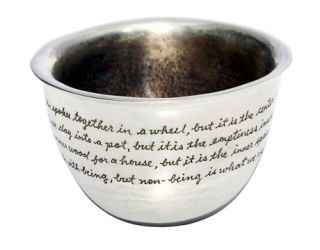 bowl with writing