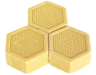 three bars of soap