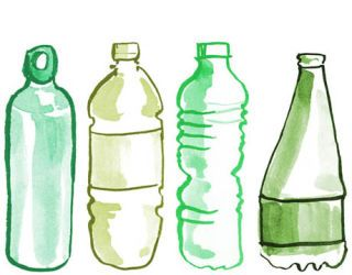 illustrations of bottled water