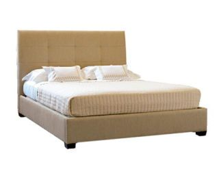 bed with big headboard