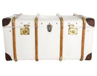 vintage white trunk