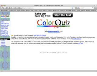 color quiz web site