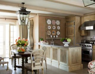neutral painted kitchen
