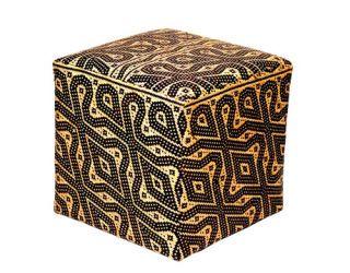 vintage rattan pouf