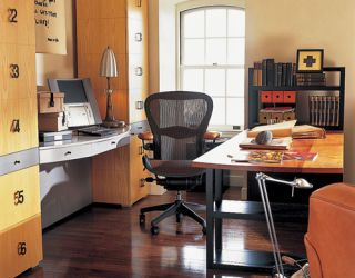 organized desk and office
