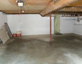 ranch house garage before renovation and makeover