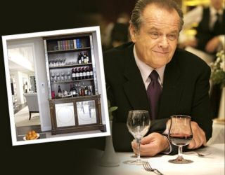 jack nicholson in movie at table with wine