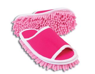 pink cleaning slippers