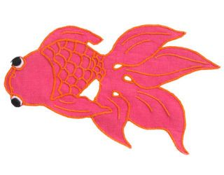 pink fish cocktail napkin