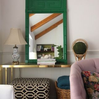 Green, Room, Interior design, Teal, Turquoise, Home, Lampshade, Interior design, Living room, Lamp,