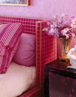 Custom Velvet Bed