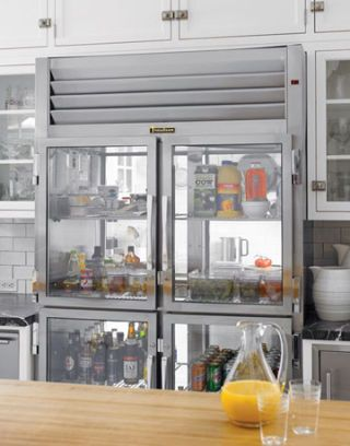 custom stainless steel refrigerator from traulsen