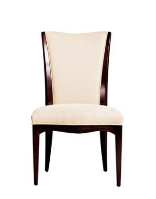 White chair from Baker Furniture.