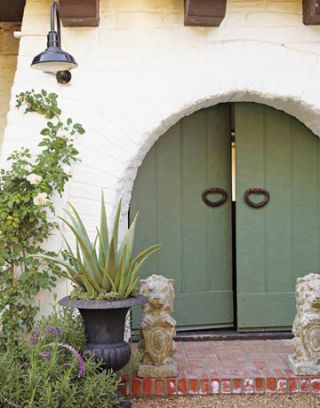 front doors of kathryn ireland's home in ojai