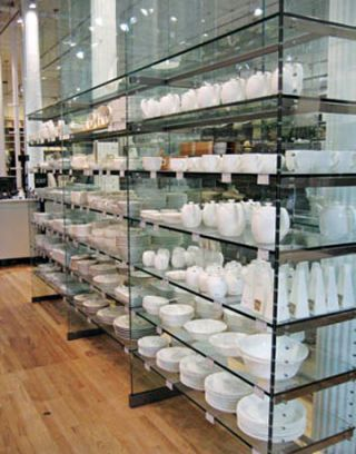 collection of dinnerware and porcelain at Muji