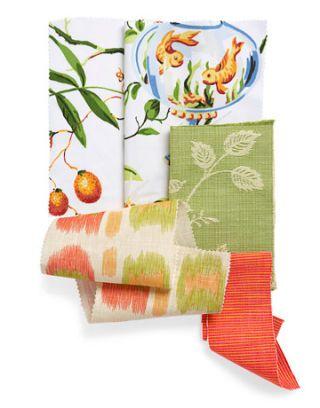 bright print fabric swatches