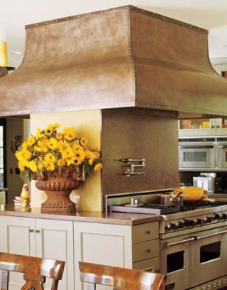 stove with hood