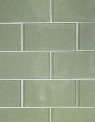 green glass subway tiles