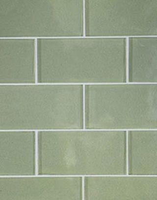 green glass subway tiles