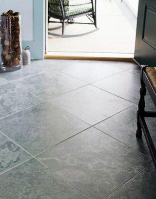 gray tiles laid diagonally